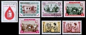 Afghanistan Scott B72, B73, B76, B77-B78, B79-B80 (1964-67) Mint/Used H VF C