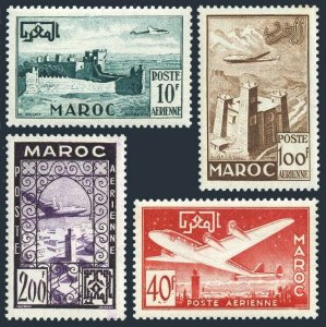 Fr Morocco C42-C45,MNH.Mi 348-351. Air Post 1952.Fortifications,Marrakesh,Fort,