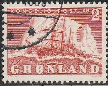 Greenland, #37 Used From 1950-60