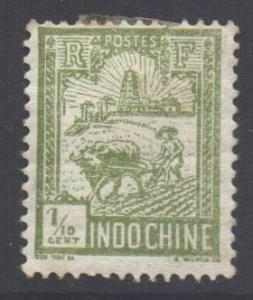 Indo-China SG136, 1927 Ploughman 1/10c MH*