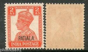 India PATIALA State 2As KG VI Postage SG109 Cat £9 MNH
