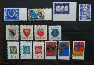 Liechtenstein 1964 1967 Europa Arms Painter Symbols etc MNH