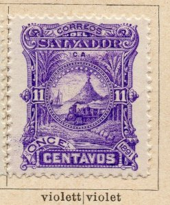 Salvador 1891 Early Issue Fine Mint Hinged 11c. NW-11846