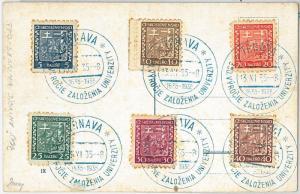 61677 -  Czechoslovakia - POSTAL HISTORY - POSTMARK  1935: UNIVERSITU Education