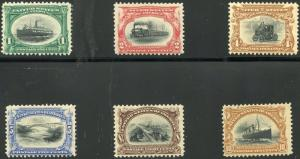 #294-299 F-VF OG LH COMPLETE SET PAN-AM CV $397-00 BP2318