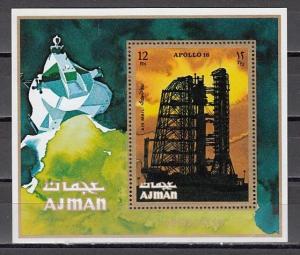 Ajman, Mi cat. 1020, BL301 A. Apollo 16 s/sheet.