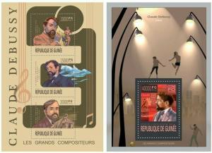 Guinea 2013 Claude Debussy music  famous persons klb+s/s MNH