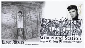 2015, Elvis Presley, Memphis TN,, Pictorial Postmark, Graceland, 15-213