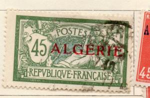 Algeria 1924-26 Early Issue Fine Used 45c. Optd 223337