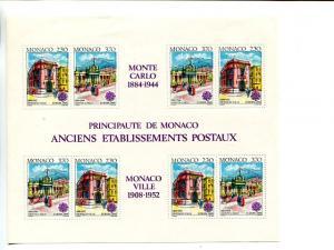 Monaco 1990 Europa mini sheet   Mint VF NH