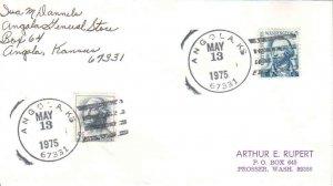 United States Kansas Angola  67331 1975 4-bar  DPO  Philatelic.