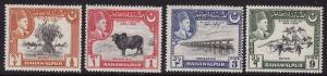 Pakistan-Bahawalpur #22-25 F-VF Mint NH ** Plants, etc.