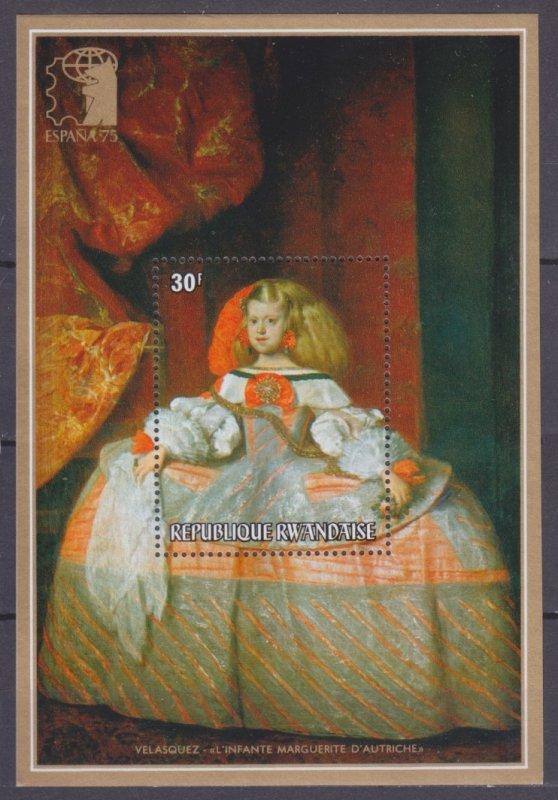 1975 Rwanda 688/B55 Painting 3,00 €