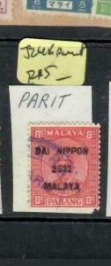 MALAYA JAPANESE OCCUPATION PERAK (P2508B) 8C DN SG J248 PARIT   VFU