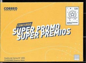PSP-ARGENTINA 2019 P STATIONARY COVER ARGENTINA 2019 PROMO LOTTERY REWARD UNUSED