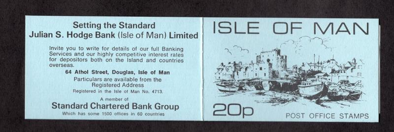 Isle of Man    1973 MNH  booklet contains 3 x 6p and 2 x 1p stamps