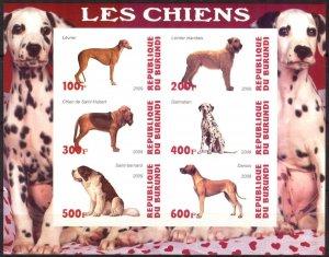 Burundi 2009 Dogs (1) Imperf. MNH Cinderella !