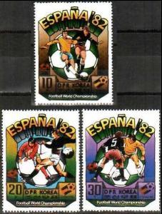 1981 Korea, North 2094-96 1982 World championship on football of Spain 12,00 €