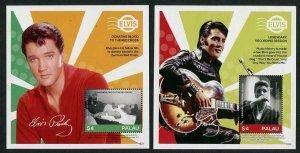 HERRICKSTAMP NEW ISSUES PALAU Sc.# 1314-15 Elvis Presley S/S III & IV