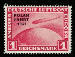 1931, Zeppelin, Overprinted POLAR - FAHRT - 31, 1RM, MNH, * (RT-1270)