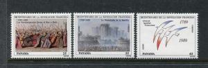 Panama 769, C450-C451 MNH, 1989 French Revolution. x27008