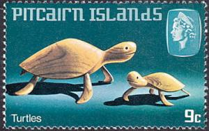 Pitcairn Islands # 194 mnh ~ 9¢ Handicraft - Turtles