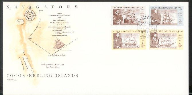 Cocos Is - 1990 Navigators of the Pacific (FDC)