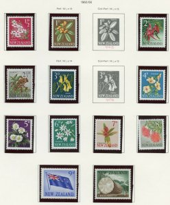 NEW ZEALAND 1961/66  SELECTION  ON PAGES MINT NH SCOTT $198.00