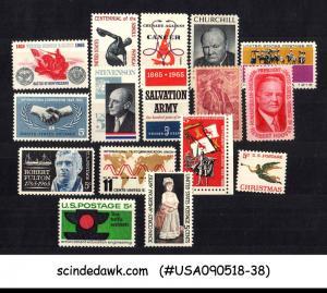 UNITED STATES USA - 1965 COMMEMORATIVE STAMPS SCOTT#1261-76 16V - MNH