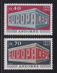 Andorra French    #188-189  MNH   1969    Europa