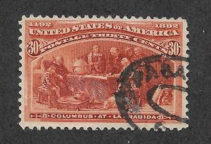 239 Used, 30c. Columbian, scv: $100  Free Insured Shipping