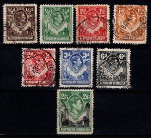 Northern Rhodesia 1938 George VI Definitives Part Set [Used]