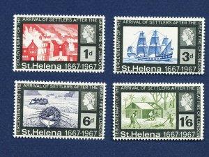 SAINT HELENA - 197-200 - VFMNH - Settlers from London - 1967