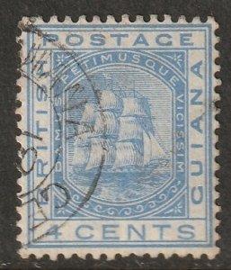 British Guiana 1876 Sc 74 used