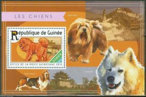 Guinea MNH S/S Dogs Fauna 2015