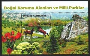 Turkey. 2017. bl 166. Horses. MNH.
