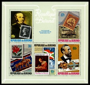 BURUNDI Scott C272 Rowland Hill XF NH • Impressive Souvenir Sheet