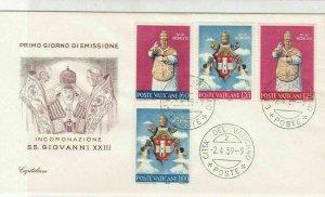 Vatican 1959 Coronation of S.S. Giovanni XXlll Pic & Stamps FDC Cover Ref 29513