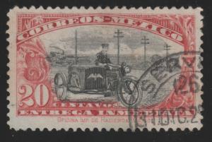 Mexico E1 Motorcycle Postman 1919