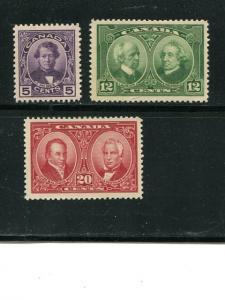 Canada #146-48  Mint  XF NH