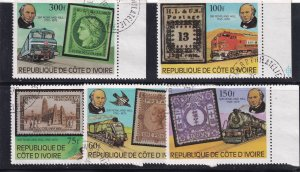 FRANCE COLONIES IVORY COAST USED STAMP COLLECTION LOT