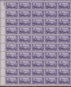 US,1003,WASHINGTON AT BROOKLYN,MNH VF, FULL SHEET,1950'S COLLECTION,MINT NH ,VF