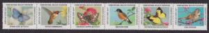 National Wildlife Federation Strip of 6 Diff 2000 Wildlife Stamps  I Combine S/H