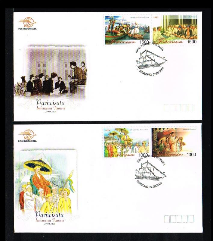 2003 - Indonesia FDC 09/03 - Vacation & Tourism - Indonesian Toerism [PB8_156]