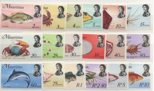 Mauritius 339-56 Set  Mint Never Hinged