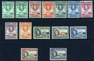 GOLD COAST KG VI 1938-1943 Christiansborg Perf 12 Part Set SG 120 to 132 MINT