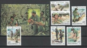 Somali Rep. 1999 Cinderella issue. Scouting set & s/sheet.  C.T.O.