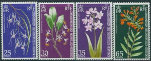 New Hebrides French 1973 SGF189-F192 Orchids set MNH