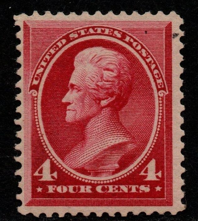 $US Sc#215 M/NH/F-VF, small natural paper inclusion UR, Cv. $525