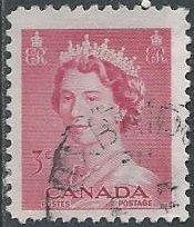 Canada 327 (used) 3c Elizabeth II